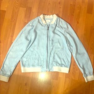 Lou & Grey Chambray Bomber Jacket